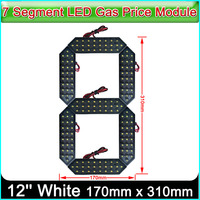 12 White Color Digita Numbers Module LED Display Signs Advertising Board, 7 Segment LED Gas Price Module