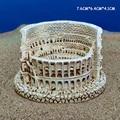 Simulation Ancient Rome Colosseum Resin Mini Statue Sand Table Building Desktop Decoration Classical Architecture Sculpture