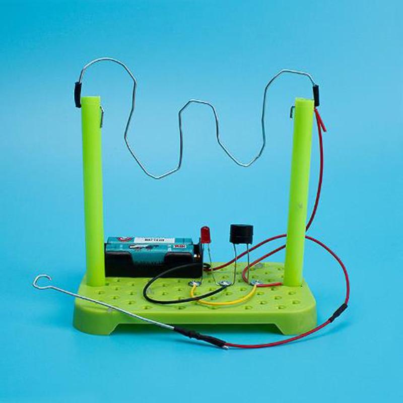 Набор схем для физических экспериментов, набор электронных компонентов из АБС-пластика «сделай сам» случайного цвета для обучения детей, р...
