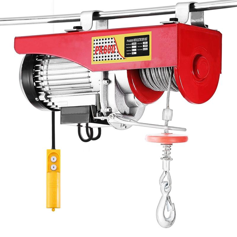 500W 800W 1050W 1400W Lifting Crane Red Hoist Electric Cable Durable 200kg 400KG 600KG 800KG Electric Hoist Remote Control HWC