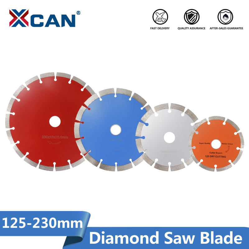 XCAN Diamond Saw Blade 125/155/190/230mm Angle Grinder Dry Wet Cutter Disc For Tile Stone  Circular Saw Blade