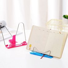 Portable Foldable Adjustable Bookend Stand Reading Book Stand Document