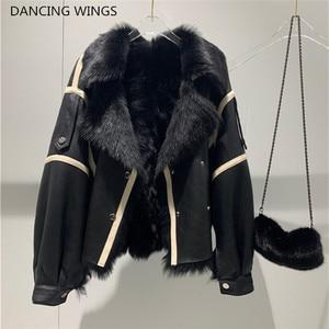 Image 1 - Winter New Women Sheep Wool Fur Real leather jacket sheepskin Double face Coat Oversized