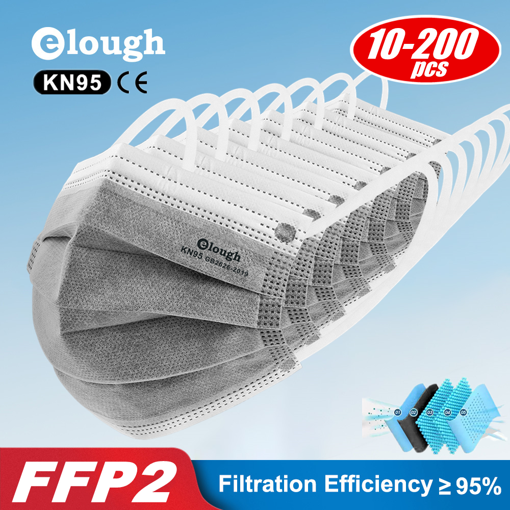 KN95 Mask Activated Carbon mask Dust 5 Layers Gray Respirator KN95Mask formaldehyde-proof dust-proof mascarillas FFP2 FFP3