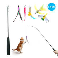 5pcs Cats pet toys Cat Scratcher Toys Pet Interactive toy Funny cat Feather cats paws Cute Toy jouet chat D35
