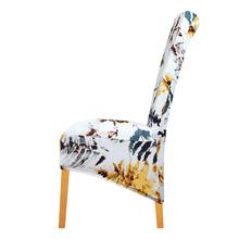 Rozmiar XL drukowane pokrowce na krzesła elastyczne pokrowce na krzesła pokrowce zmywalne stretch pokrowce na siedzenia na bankiet Hotel jadalnia domu tanie tanio leorate Chair Cover Nowoczesne Ślub krzesło Plaża krzesło Bankiet krzesło Fotel Hotel krzesło Office Chair Elastan poliester