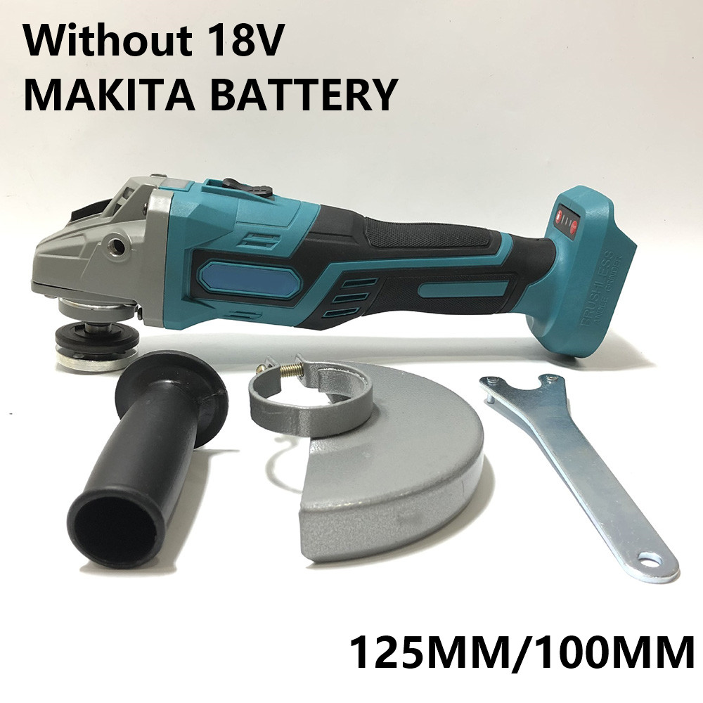 For MAKITA 18V Cordless Brushless ANGLE GRINDER POLISHER Fits 125mm/100mm Wheels Durable 1380W Angle Grinder Head Kit