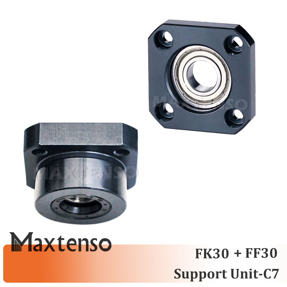 MAXTENSO Support Unit Set FK30 FF30 Professional fixed side FKFF C7 for ball screw TBI sfu sfnu 4010 Premium CNC brand new