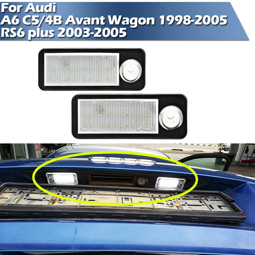 LED License Plate Light For Audi A6 C5/4B Avant Wagon 1998-2005 RS6 plus 2003-2005 image