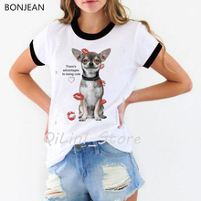 There's Advantages to Being Cute T Shirt Women funny Chihuahua print TShirt dog