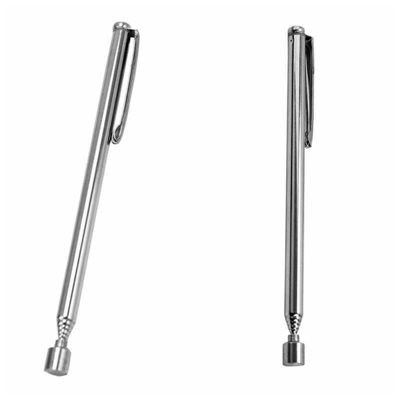 Mini 1 Pc Draagbare Telescopische Magneet Magnetische Pen Pick Up Moeren En Bouten Promotie Handheld Gereedschap Verstelbare Lengte Silver Tone