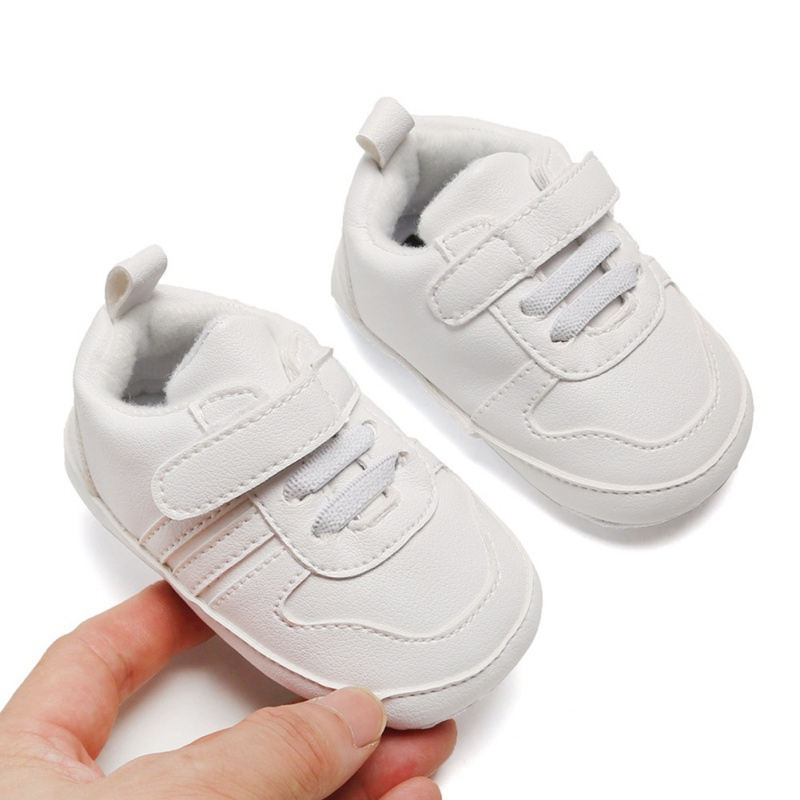 Baby Boys Girls Anti-Slip Sneakers Toddler Soft Soled Cotton Shoes Casual PU Leather Shoes Infant Baby First Walkers