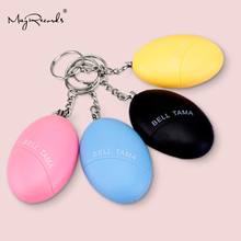 Free Shipping Egg Shape Self Defense Alarm Girl Women Security Protect Alert Personal Safety Scream Loud Keychain