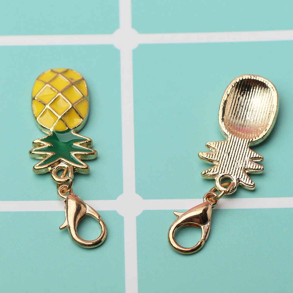 Liga criativo Abacaxi Frutas Chaveiros Encantos de Frutas Tropicais do Anel Chave de Cadeia Mulheres Bag Purse Pingente Chaveiros Para O Estilo Do Carro