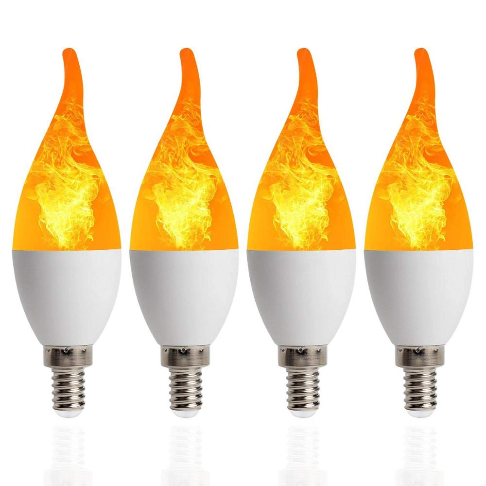 Flame Bulb 9W E27 E26 E14 E12 Flame Bulb 85-265V 3 Mode LED Flame Effect Fire Light Bulbs Flickering Emulation Decor LED Lamp