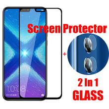 9D Glass For Huawei Honor 8X Protective Screen Protector Back Camera Lens Film Full Coverage Tempered