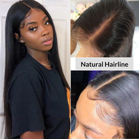 Indian Straight Lace Closure Wigs 10 30 Inch Wig Pre Plucked Hairline with Baby Hair Remy Human Hair 4x4 6x6 Closure Lace Wigs