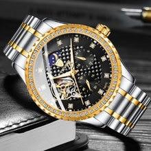 Top Brand TEVISE Gold Men Watch Waterproof Automatic Mechanical Watches Fashion Torbillon Sport Wristwatch Relogio Masculino