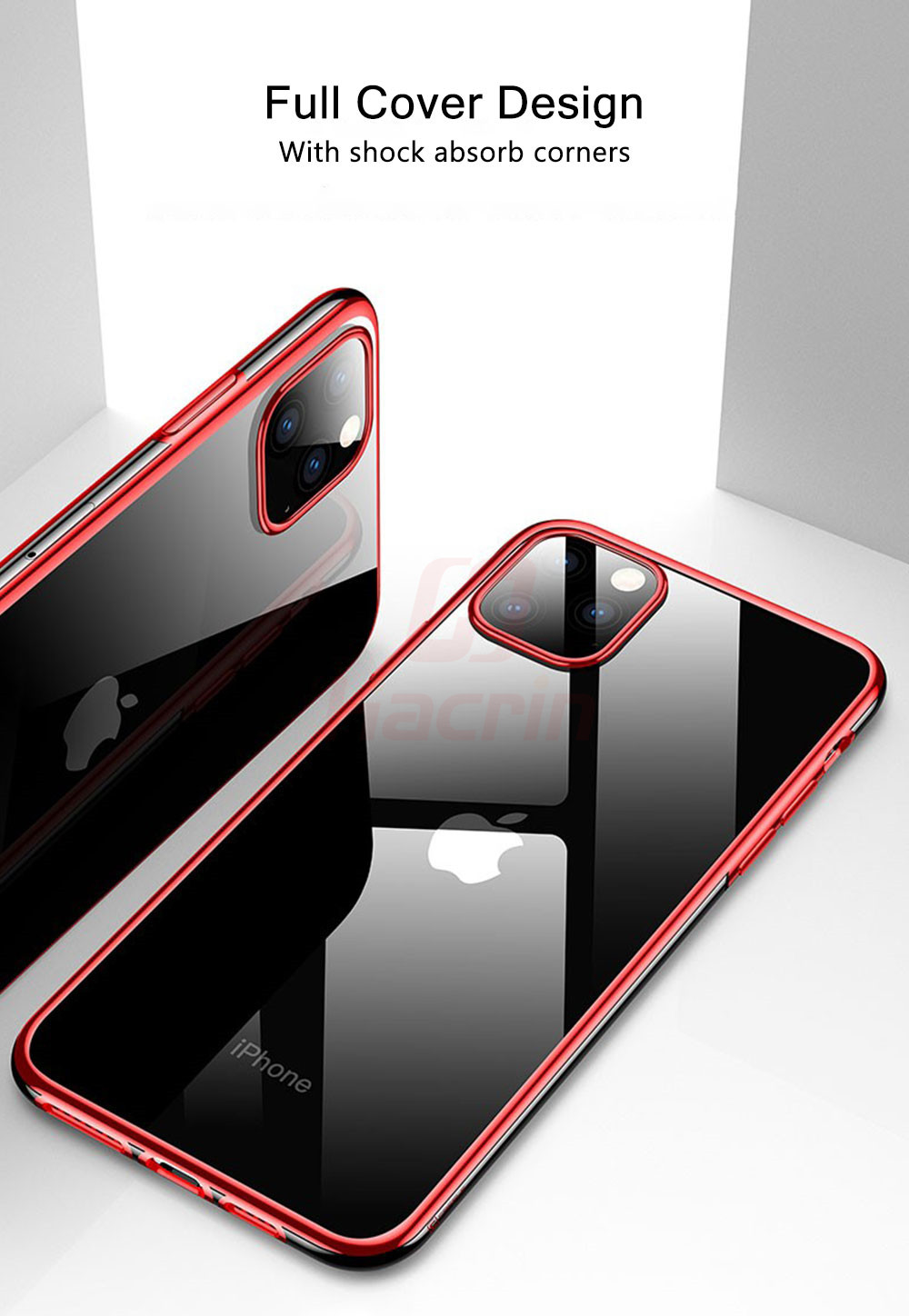 Hacrin Transparent TPU Silicone Case for iPhone 11/11 Pro/11 Pro Max 32