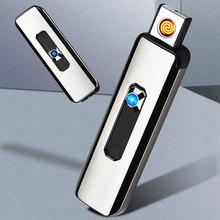 1 mechero de cigarrillos a prueba de viento, mecheros recargables USB integrados, accesorios para fumar sin llama, bonito regalo, triangulación de envíos