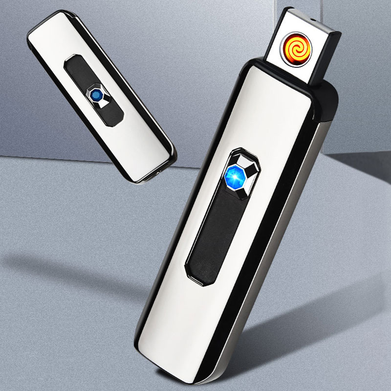 1pc Lighter Windproof Build-in USB Rechargeable Electronic Cigarette Lighters Flameless Smoking Accessories Dropshipping