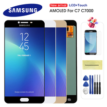 Super AMOLED LCD For Samsung Galaxy C7 C7000 SM-C7000 LCD Display Touch Screen Digitizer Assembly Replacement For C7 LCD