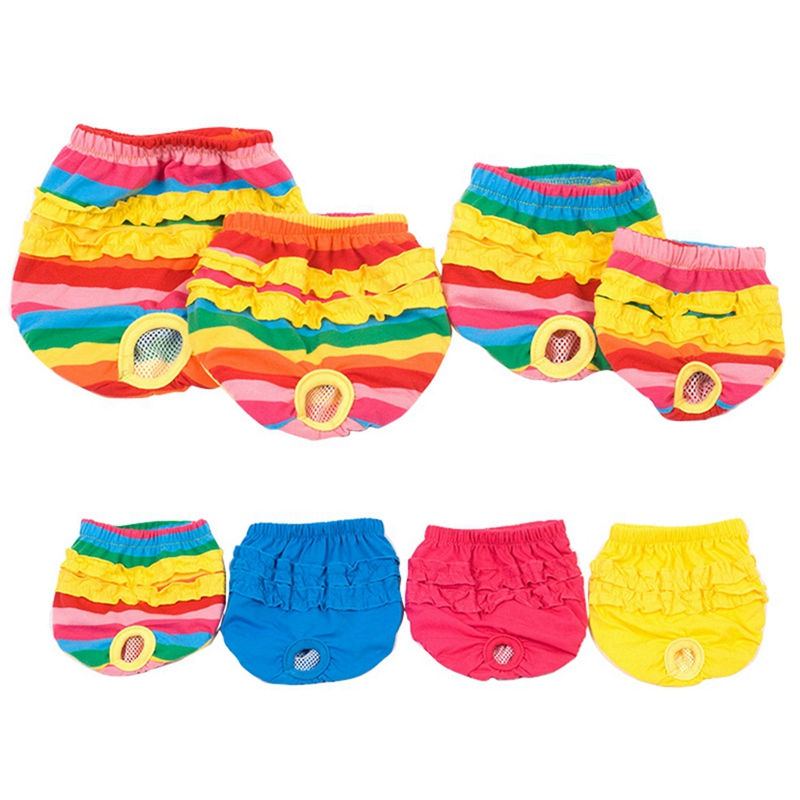 Striped <font><b>Dog</b></font> Panty Sanitary <font><b>Pants</b></font> Pet Diaper <font><b>Dog</b></font> Menstrual <font><b>Pants</b></font> For Girl <font><b>Female</b></font> Puppy Doggy Short Menstruation Period Hot HOT image