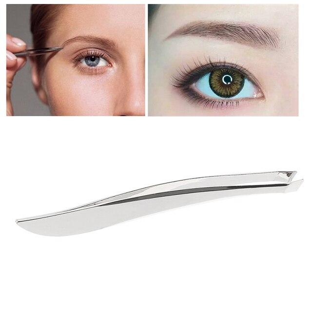 1 Pc Stainless Steel Anti-static Tweezers Watchmaker Beauty Makeup Clip Tweezers Tweezers Nose Eyebrow Eyebrow To Epilation K5V1