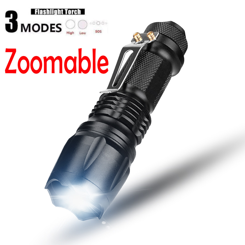 Q5 3 Mode Zoomable LED Flashlight MINI Torch AA/14500 For Camping Hiking фонарик Flashlight фонарь Lanterna Nitecore Linterna
