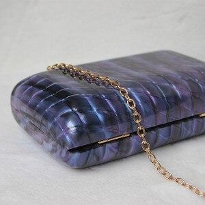 Image 5 - Luxy Moon kobiety akrylowa torba niebieska wieczorowa kopertówka luksusowa torebka ślubna w stylu Vintage torebka na ramię na imprezę ZD1513