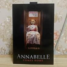 8 inç orijinal NECA Ultimate Annabelle şekil Annabelle geliyor ev aksiyon figürü PVC oyuncak toplamak hediyeler