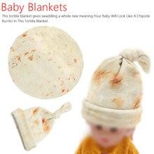 Fashion blanket swaddle Burrito Blanket Baby Flour Tortilla Swaddle Sleeping Wrap Hat For Sleep