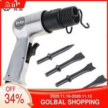 Palas de Gas para pistola profesionales, 9150, 120mm /9190, 190mm, martillo de aire, pequeñas herramientas neumáticas para quitar el óxido con 4 cinceles