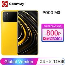 Versão global POCO M3 4GB 64GB 128GB snapdragon 662 octa núcleo 6000mah 48mp triplo câmera 6.53