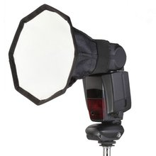 20 см восьмиугольный Универсальный мини вспышка Softbox диффузор Портативный Камера софтбокс для цифровой зеркальной камеры Canon Nikon YongNuo Speedlite Photo Studio