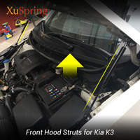 Car Bonnet Hood Cover Lifting Support Hydraulic Rod Strut Bars for Kia K3 Cerato Classic Vivaro Koup Forte5 2013 2018|Strut Bars| |  -