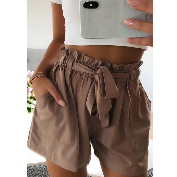 2019 New  Large Size Women's Fungus Casual Wide Leg Shorts