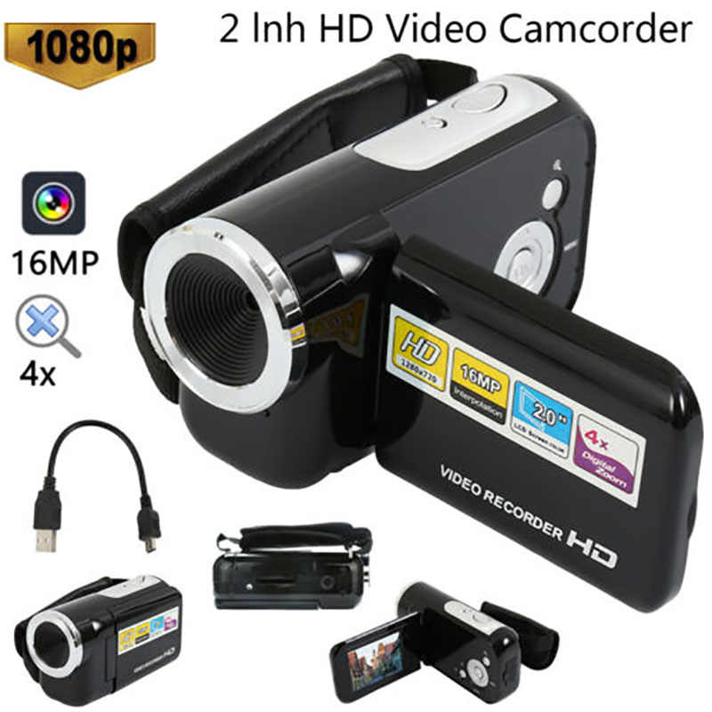 Kühlen 1080P HD Video Kamera Camcorder 4x Digital Zoom Handheld Digital Kameras Mit Lcd-bildschirm 2,4 ''TFT LCD Camcorder DV Video