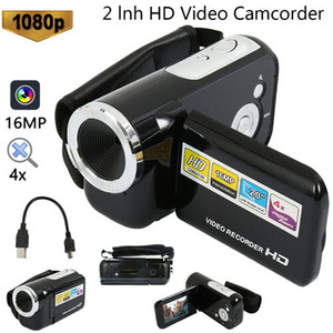 Cool 1080P HD Video Camera Camcorder 4x Digital Zoom Handheld Digital Cameras With LCD Screen 2.4''TFT LCD Camcorder DV Video