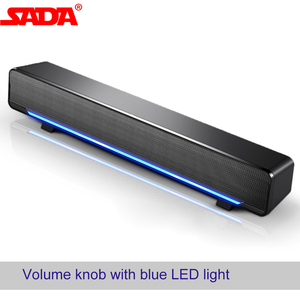 SADA Computer Speaker V-196 USB Wired Bar Stereo Subwoofer Music Player Bass Surround Sound Box 3.5mm Audio Input For PC Laptop(China)