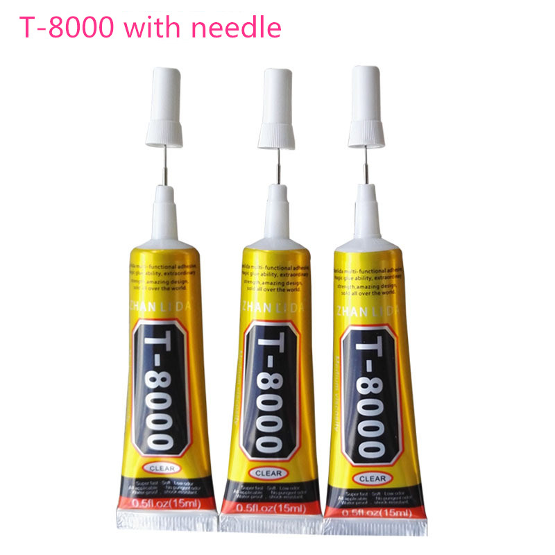 50ml T8000 Glue Mobile Phone Touch Screen Superglue T-8000 Adhesive Telephone Glass Glue Repair Point Diamond Jewelry DIY Glue
