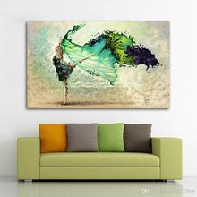 Dancer Girl Woman Abstract Posters and Prints Canvas Painting Modern Home Decor Wall Art For Living Room Girl Bedroom Dance Studio Hallway No Frame(China)