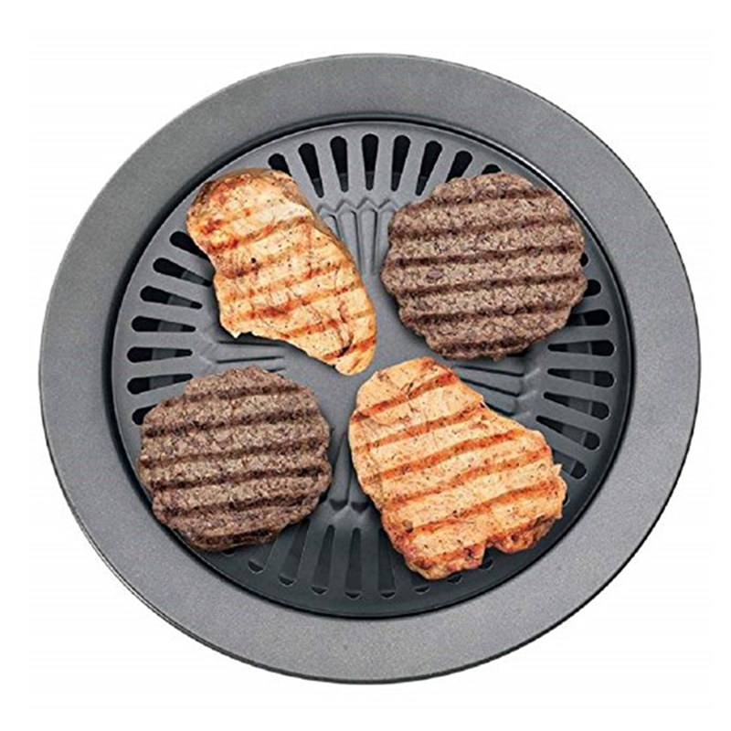 Portable Korean Outdoor Smokeless Barbecue Gas Grill Pan Household Smokeless Gas Stove Plate Bbq Roasting Cooking Tool Sets