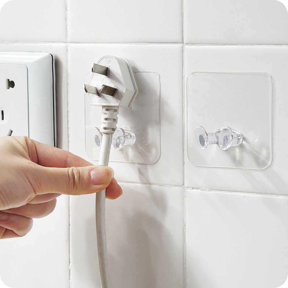 3pc wieszak do przechowywania na ścianie wtyczka zasilania uchwyt na wtyczkę ścienny wieszak samoprzylepny Home Office organizacja sprzątania akcesoria