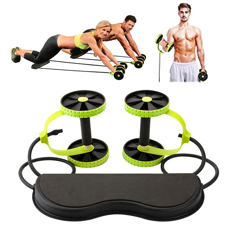 Multi-function Tension Collapsible Rally Drawstring Pulley Abdominal Trainer Wheel Arm Waist Leg Abdominal Fitness Equipment title=