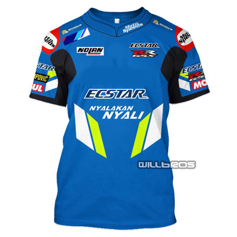 Motorcycle Racing Motorbike Motocross Moto T Shirt Riding Men Short Sleeve Breathable Casual Clothes Driving For Suzuki Camiseta
