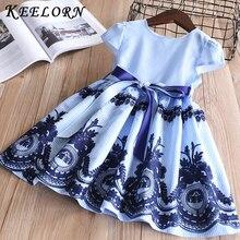 Keelorn/платье для девочек г. Летнее Брендовое платье с пайетками и бантом многослойные платья принцессы для девочек Одежда для маленьких девочек, для От 2 до 6 лет, Vestido