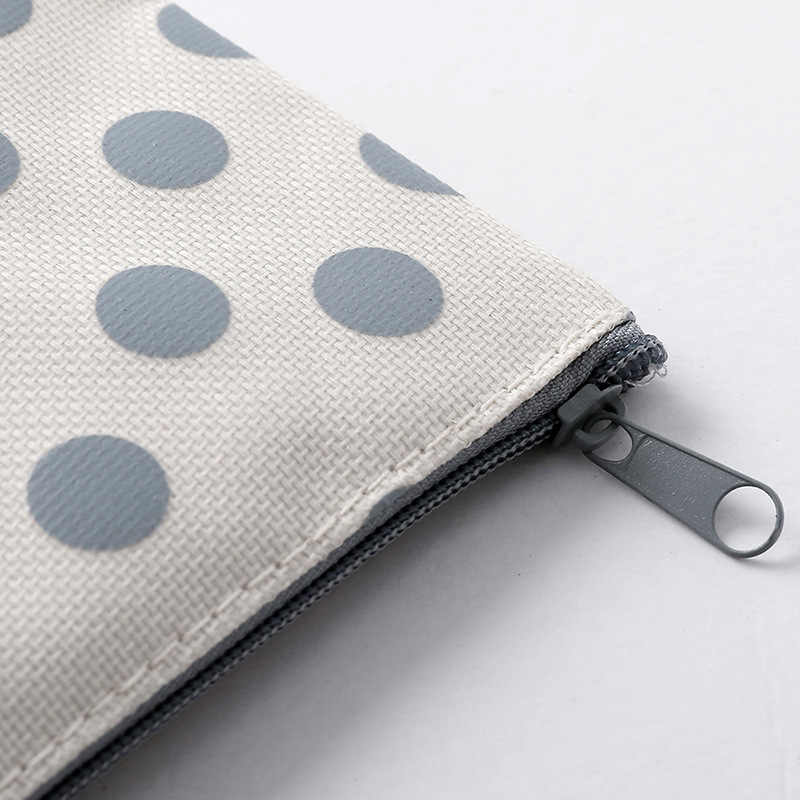 Caixa de lápis de lona para a escola bonito simples listrado grade pencilcase caneta saco caixa papelaria bolsa material escolar