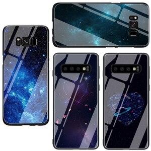 Милый чехол из закаленного стекла для телефона Samsung S7 edge S8 9 10 Note 8 9 10 plus A10 20 30 40 50 60 70