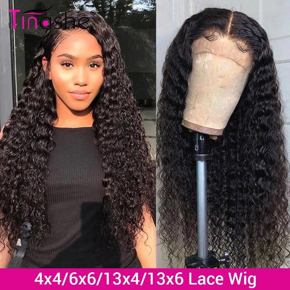 Парик Tinashe с глубоким волнистым кружевом 13х6, парики из человеческих волос, 250 плотность, бразильский кружевной парик, 4x4, 6x6, парик из вьющихся...
